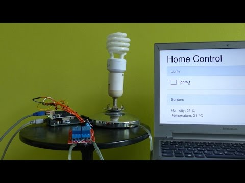 Arduino: Light Control and Temperature Sensor on Web Interface