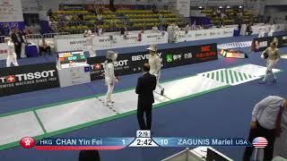 Wuxi 2018 Fencing World Championships ws team t16 HKG vs USA AND ESP vs CHN