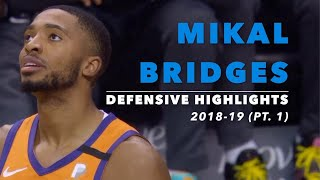 Mikal Bridges Defensive Highlights   2018-19 Regular Season   Phoenix Suns