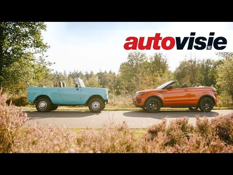Range Rover Evoque Convertible vs International Harvester Scout - by Autovisie TV