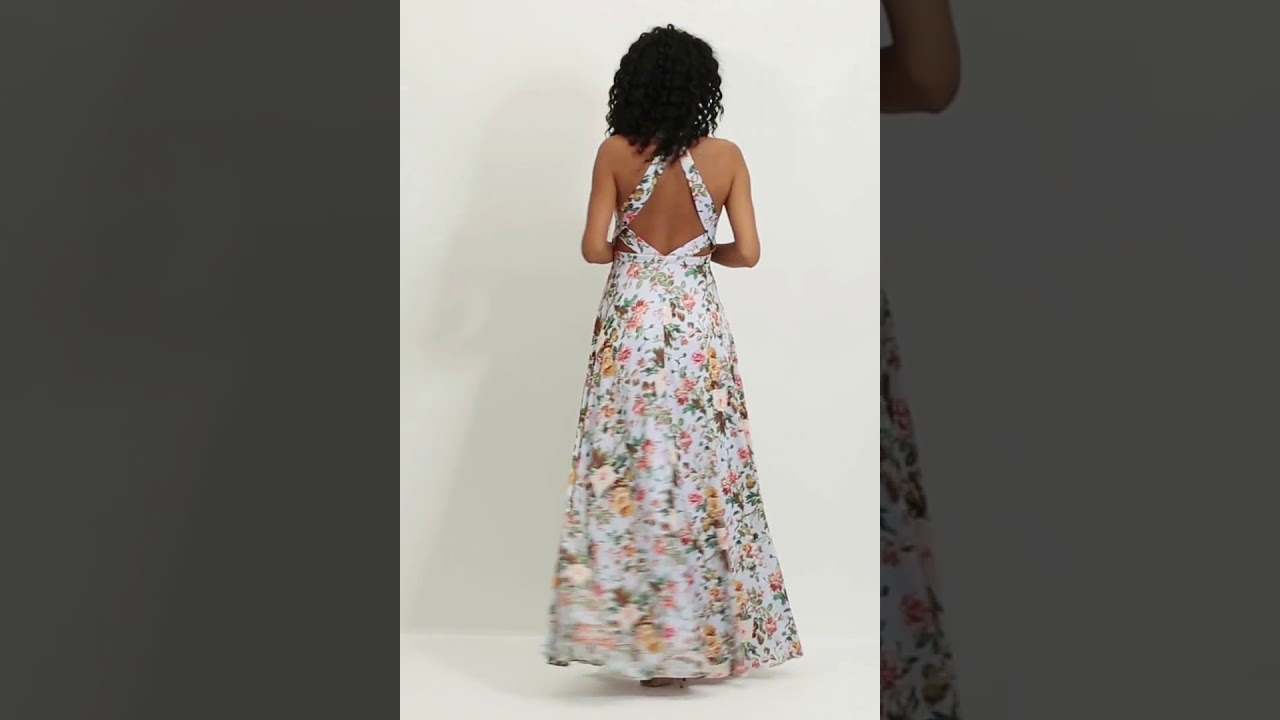 Vestido Estampado Lane - REF. 12783 - YouTube c54dfbc5db46