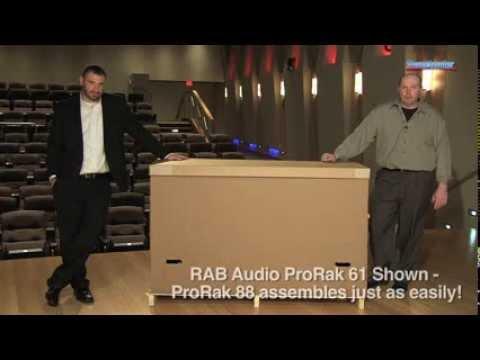 RAB Audio ProRak 88 Studio Desk Assembly Demo - Sweetwater Sound