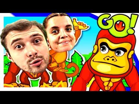 Игра Веселые обезьянки на пальме Game Cheerful monkey on a palm tree