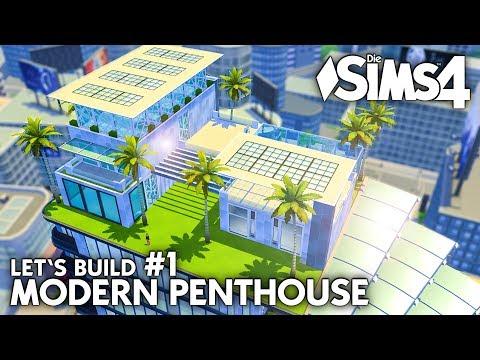 Grundriss | Die Sims 4 Haus bauen | Modern Penthouse #1 (deutsch)