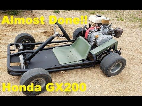 Working on the Mini Go-Kart Gx200