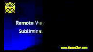 Remote Viewing Training Subliminal Self Hypnosis
