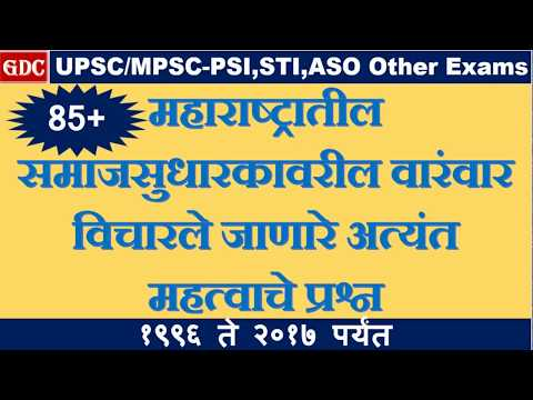 SOCIAL REFORMER QUESTIONS || IMP for UPSC/MPSC/PSI,STI,ASSO & Other Exams
