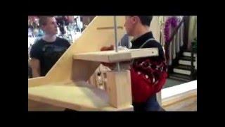 видео Лестница на тетиве
