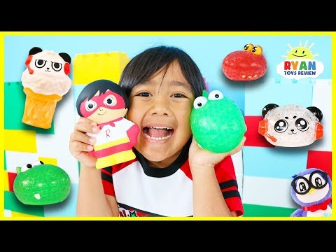 Guess the Squishy Toys Challenge with Ryan's World Toys!