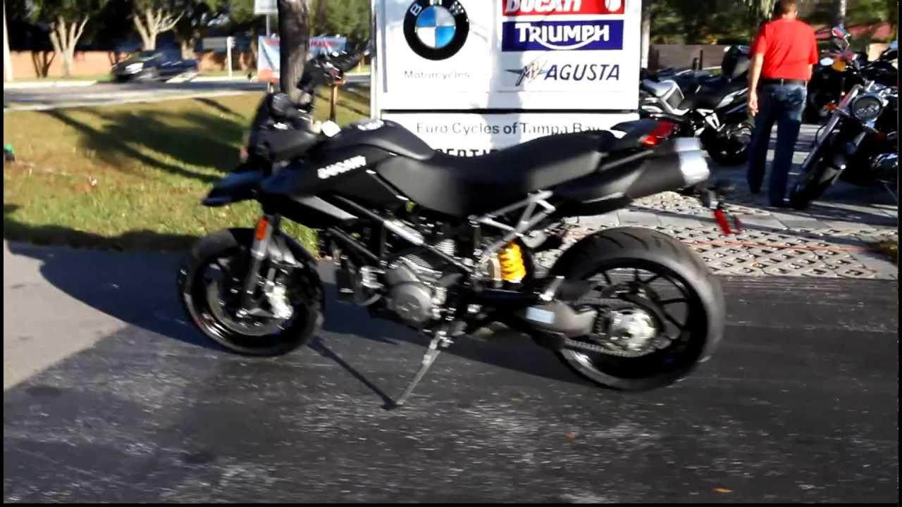 2012 ducati hypermotard 796 black - youtube