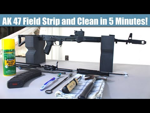 AK 47 Field Strip and Clean in 5 Muinutes!