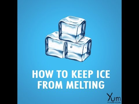 How to Keep Ice From Melting