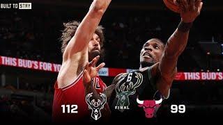 Game Highlights: Bucks 112 - Bulls 99 | 2.11.19