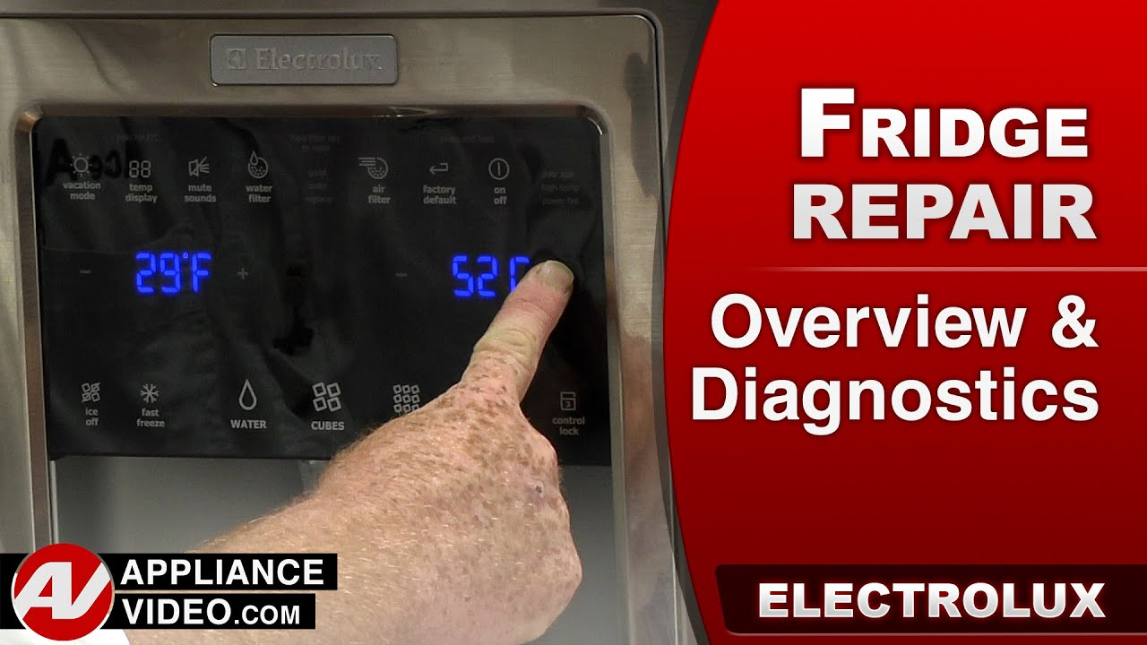 electrolux u0026 frigidare u2013 overview diagnostics and error codes youtube