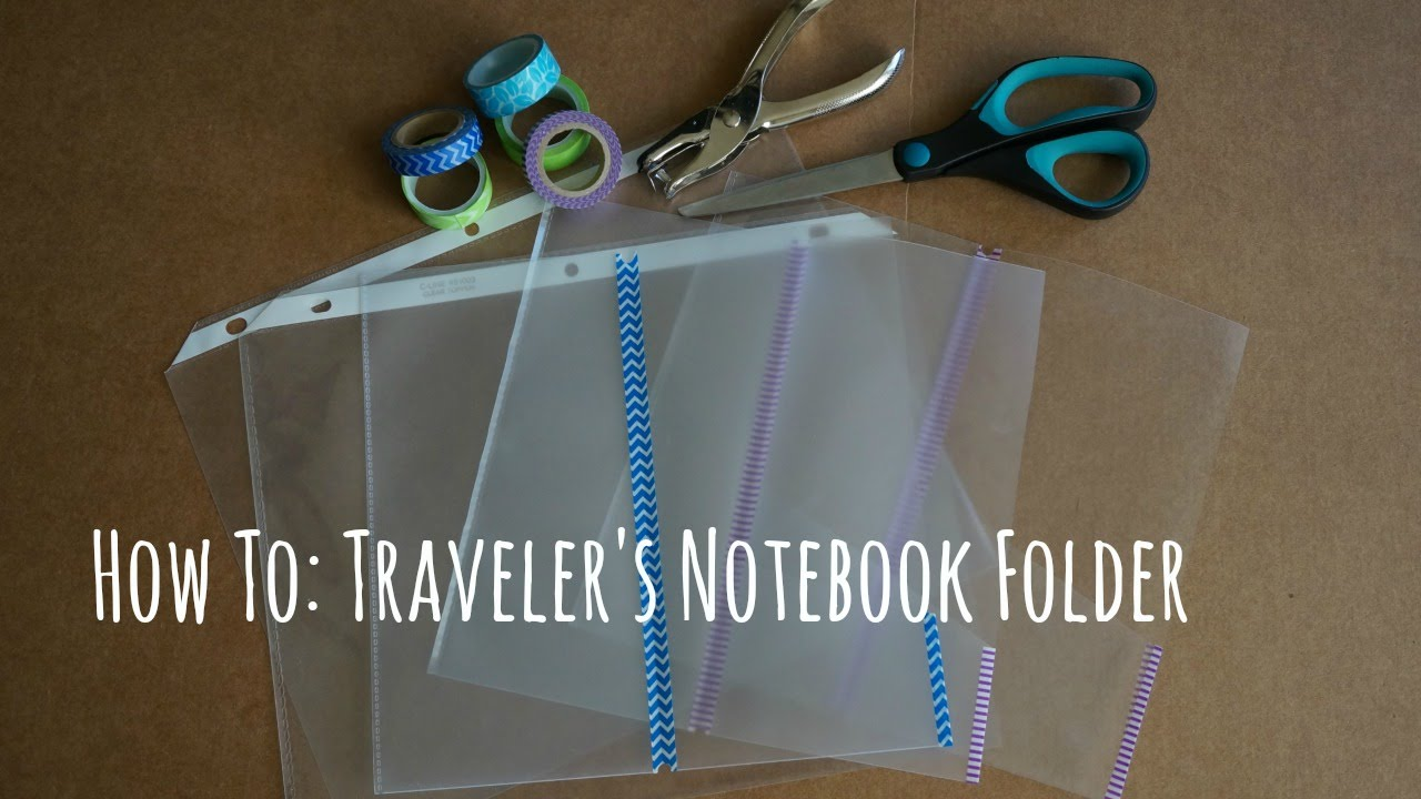 How To Diy Traveler S Notebook Clear Folder Youtube