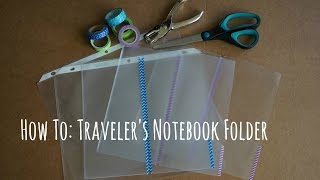 This video will show you how to make a DIY clear traveler's noteboo...