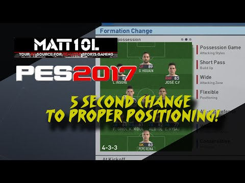 PES 2017 | 5 SECOND CHANGE TO PROPER POSITIONING!