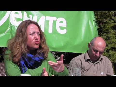 Даниела Божинова - водач на листата на Зелените за евро-парламентарните избори 2014