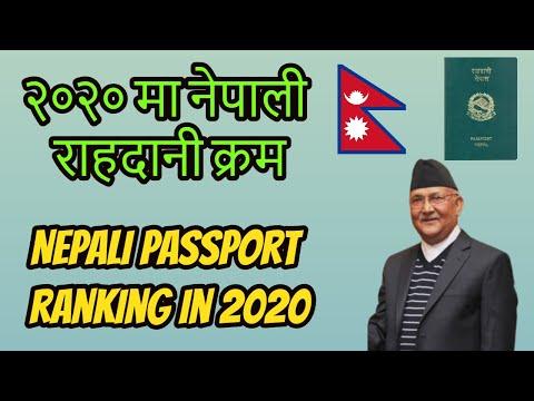 Nepal Passport Ranking 2020 / Nepalese Passport Visa Free Country In 2020 -- Passport Ranking 2020.