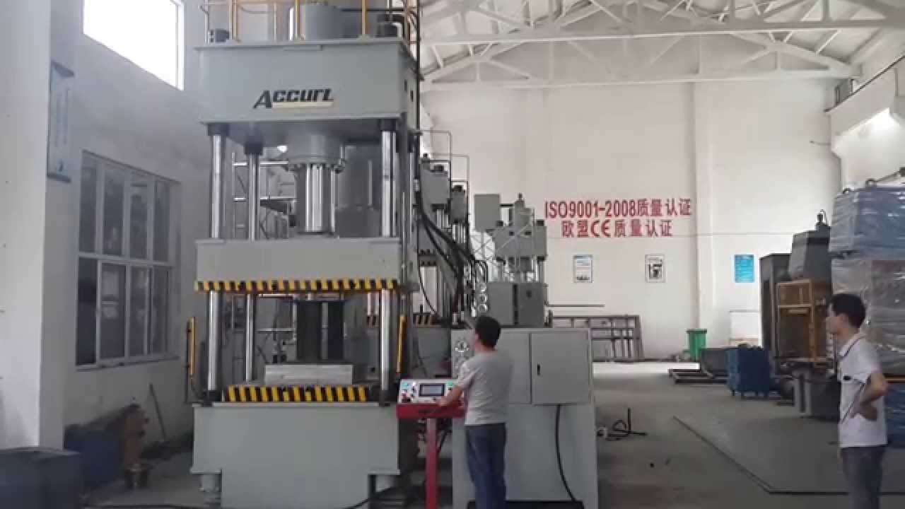 Four Pillars Hydraulic Press / 4-Columns Hydraulic Press 500 ton with Deep  Drawing for China Accurl