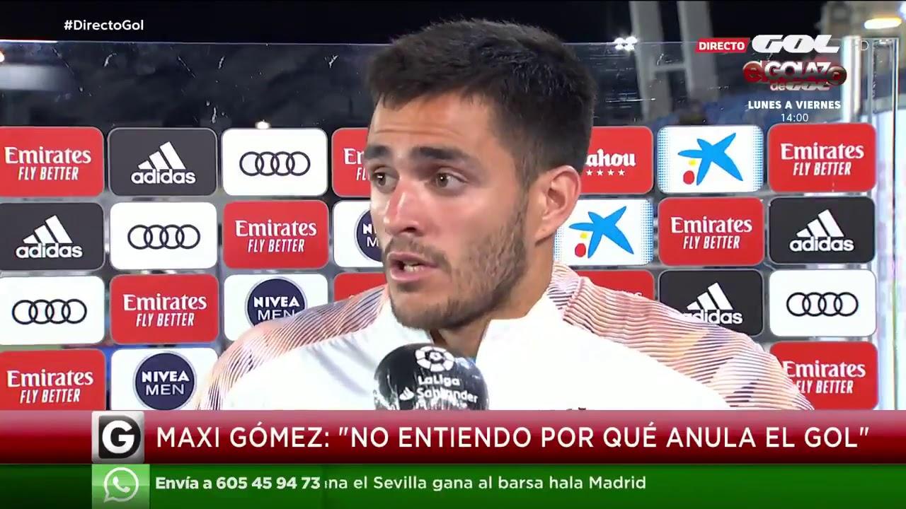"""Maxi Gómez: """"No entiendo por qué anula el gol"""""""
