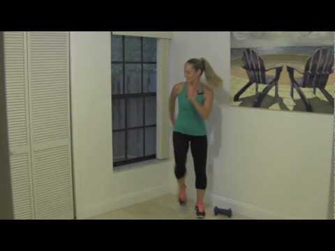 10 Minute Toning Walk Power Interval Walk with Dumbbells for Beginner Weight Loss