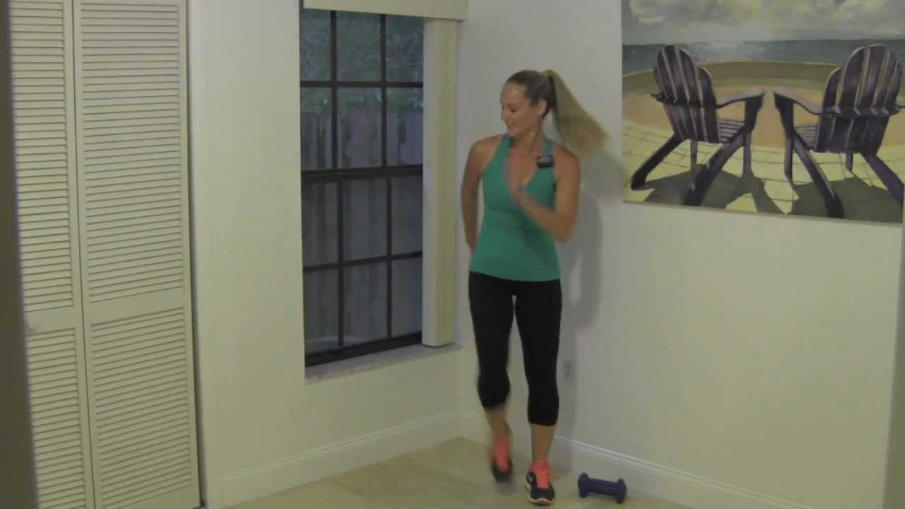 10 Minute Toning Walk - Power Interval Walk with Dumbbells for Beginner  Weight Loss