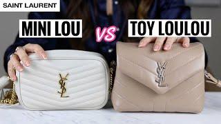 SAINT LAURENT YSL TOY LOULOU VS MINI LOU BAG - In depth Comparison & Review | Mel in Melbourne