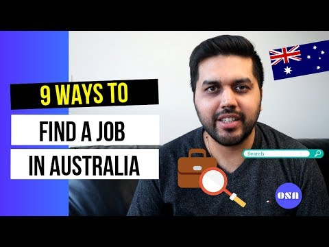 9 ways to find a job in Australia | How to find part-time work in Australia | Complete Guide