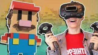 VIRTUAL REALITY 3D SCULPTING | Google Blocks VR (HTC Vive Gameplay)