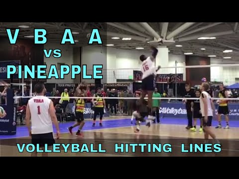 VBAA vs Pineapple Hitting Lines (USA Volleyball Open Division 2017)