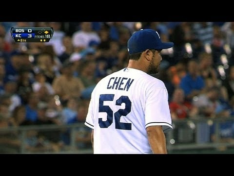 BOS@KC: Chen hurls 7 2/3 scoreless innings vs. Boston