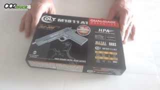 Pistola de Airsoft Colt M1911 A1- Cyber Gun - com ferrolho de metal