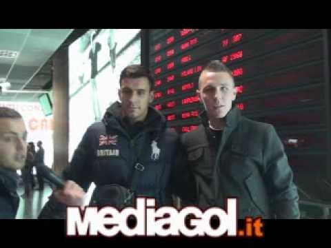 L'arrivo a Palermo di Jasmin Kurtic e Sinisa Andjelkovic - 27/12/2010 - Mediagol.it