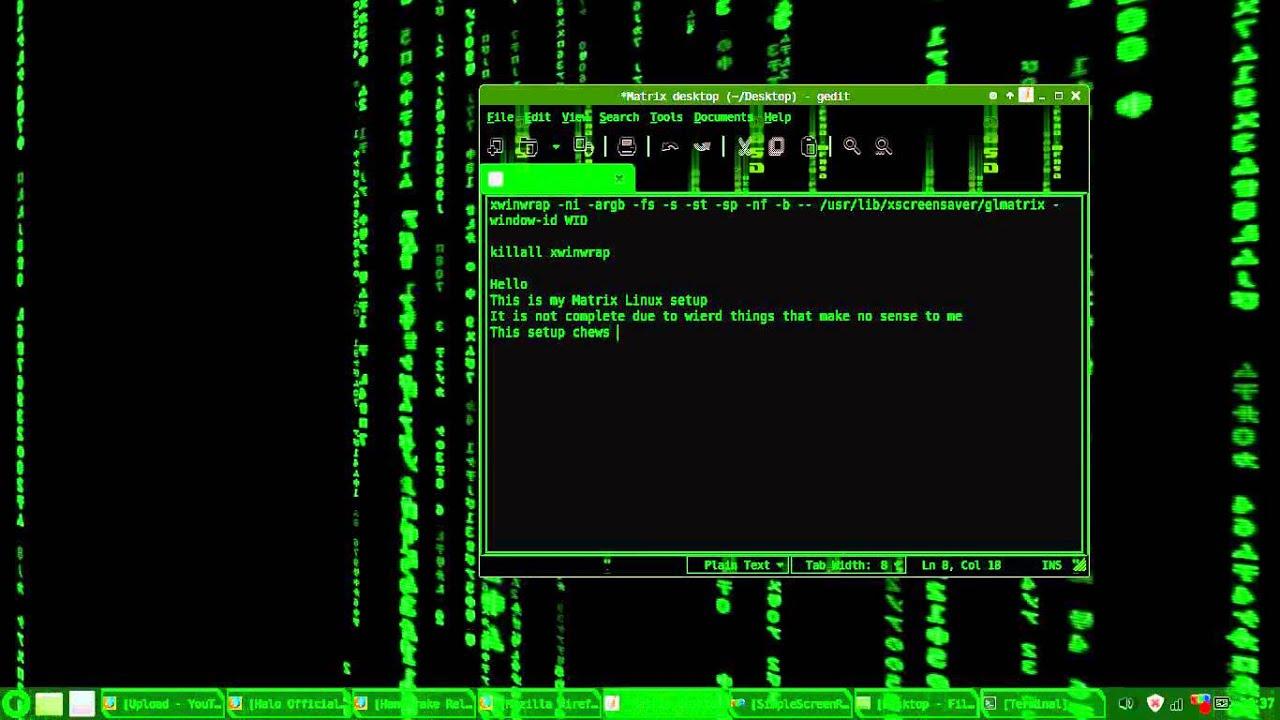 My Matrix Linux Set Up Youtube