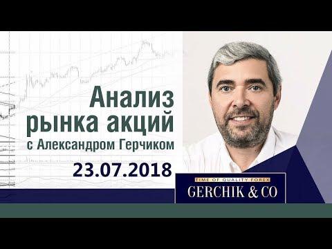 Анализ акций 23.07.18 ✦ Фондовый рынок США и ЕВРОПЫ ✦ Лучший анализ Александра Герчика