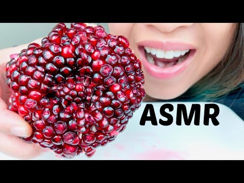 ASMR WHOLE POMEGRANATE 먹방 *No Talking* suellASMR