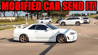 MODIFIED CARS SEND IT LEAVING CAR SHOW! (R34 GTR, Supras, Lamborghinis, and MORE!)