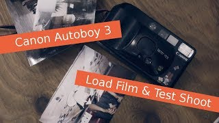 How to use CANON Sure Shot Supreme Load Film & Test Shoot cheap 35mm film camera Video