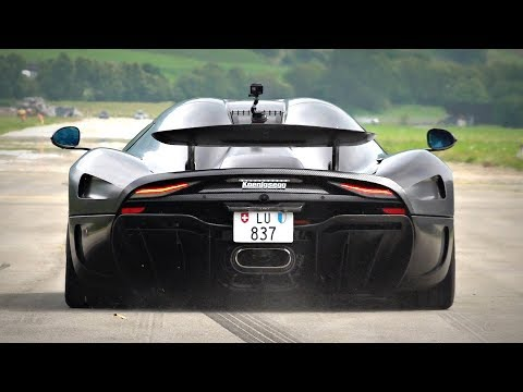 1500HP Koenigsegg Regera FLAT-OUT Accelerations on an Empty Runway | Twin Turbo V8 Sounds