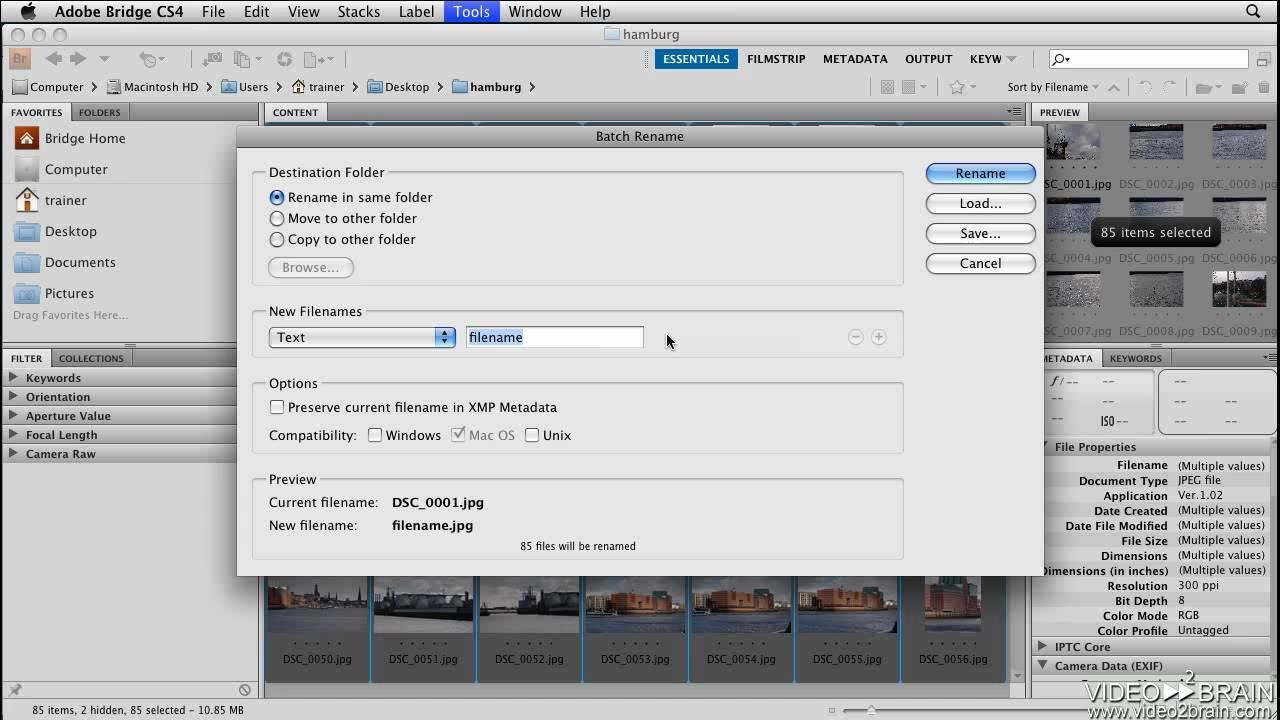 Photoshop CS4 Tutorial  Batch Renaming Files in Adobe Bridge   YouTube. Batch Resize Photoshop Cs4. Home Design Ideas