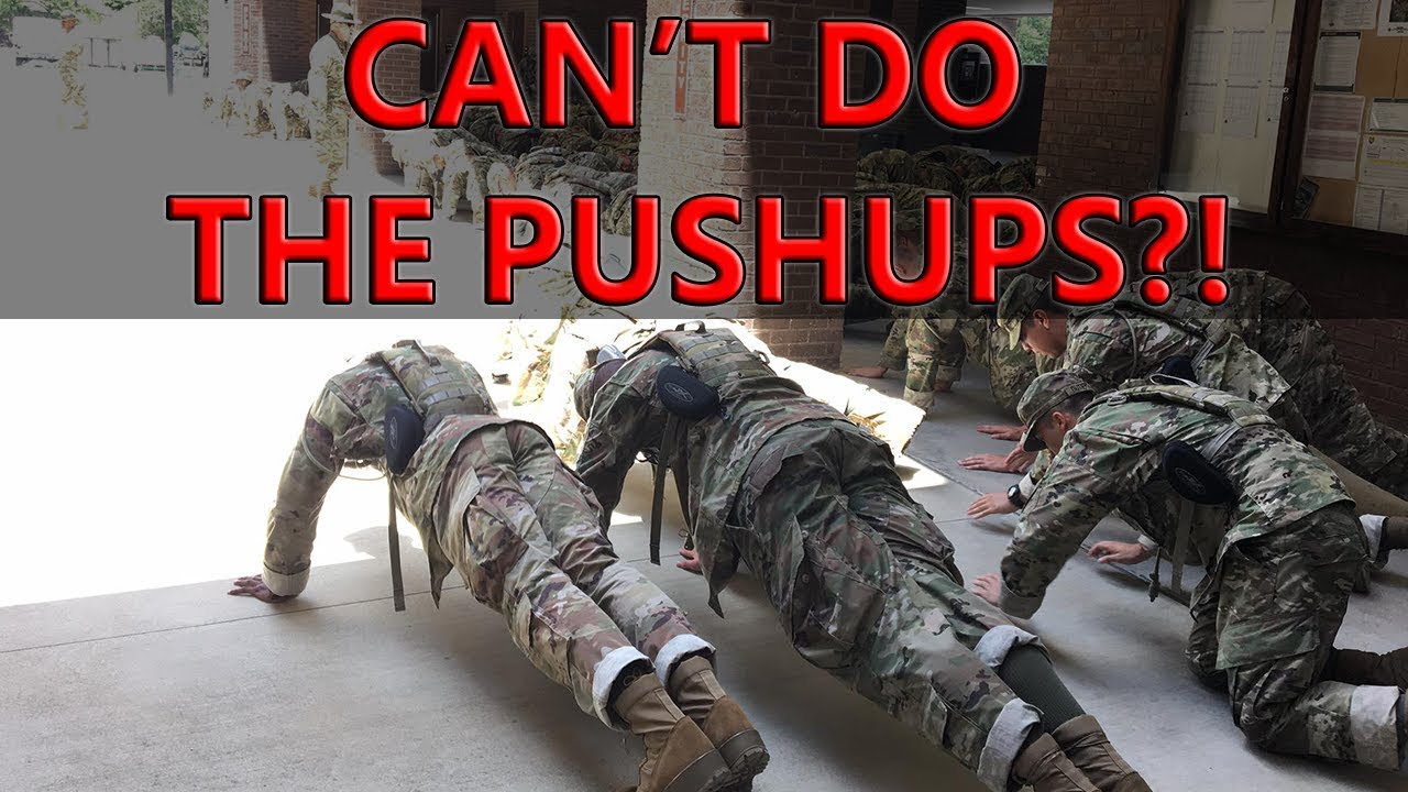 If You Can't Do The Exercise At Basic Training What Happens?