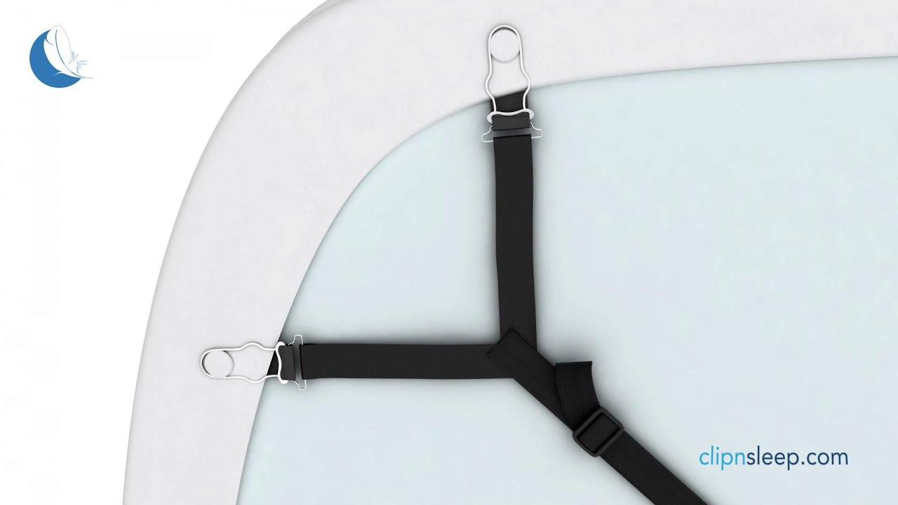 longyisound 8pcs Attache Draps de Lit pour Drap Lit Housse de Repassage Canap/é Blanc//Bleu R/églable /élastiques Triangle Tendeur Drap de Lit Attaches