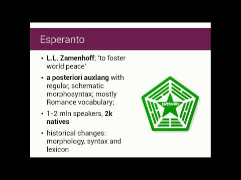 AULS Talk: Constructed languages