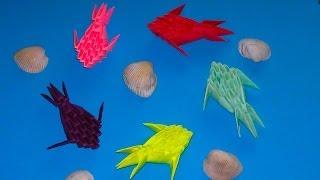 Оригами рыбка из модулей (видео схема сборки) МК для начинающих