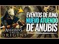 Assassin's Creed Origins | Filtrado Nuevas Armas y ATUENDO de ANUBIS y JEFE JUNO (Eventos de Juno)