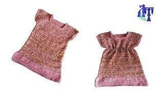 Тунисское вязание. детское платье, мастер-класс  оригинальный простой узор