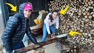 Anitka Przyjechała Do Polski ☆Dziewczyny Pomagają W Przygotowaniu Opału