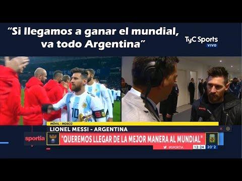 Entrevista a Messi post-partido Argentina Vs Rusia