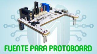 Fuente para protoboard con fusible electrónico | PARTE 1